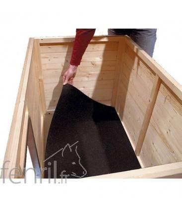Tapis isolant pour niche bois