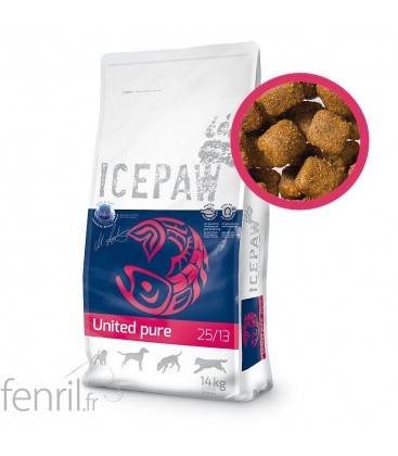 United Pure 25/13 Icepaw - croquettes pour chien