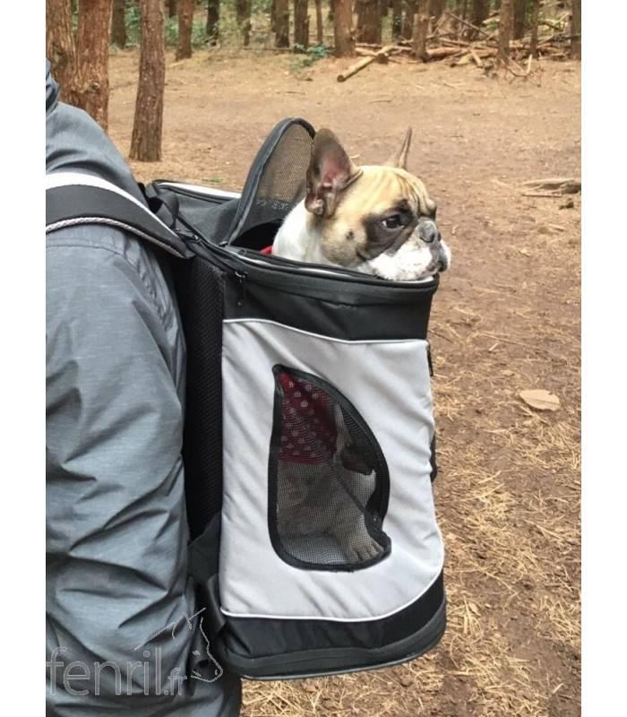sac dos de transport pour chien timon